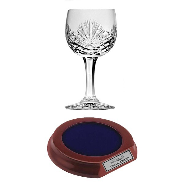 Crystal Red Wine Glass with Base