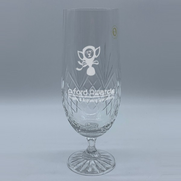 Crystal Pilsner Pint Glass