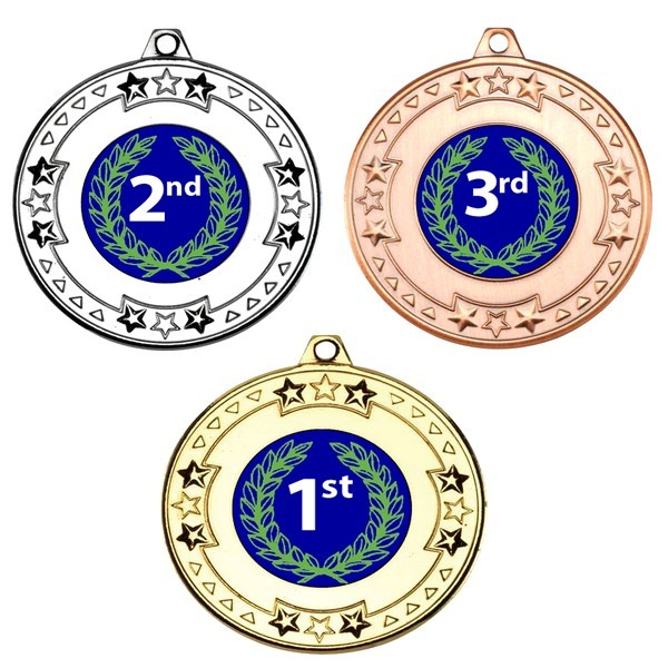 1st, 2nd, 3rd Tri Star Medals