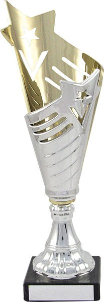 Silver and Purple Flute Trophy