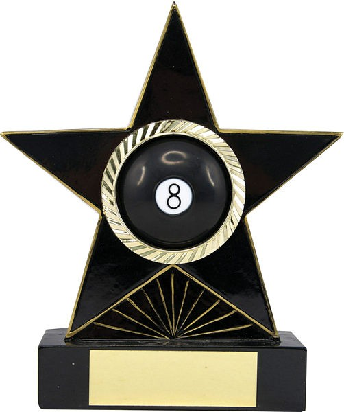 Black 8 Ball Pool Star Trophy