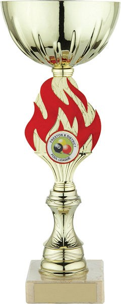 Gold Cup with Red Flame Trophy
