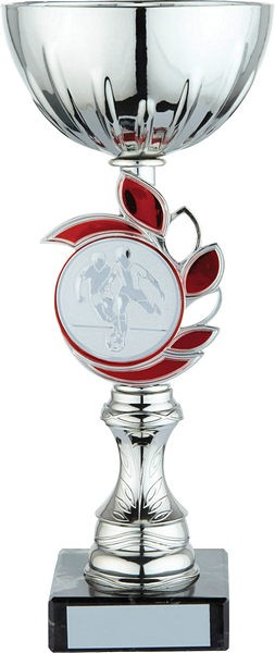 Silver Cup with Red Leaf Trophy