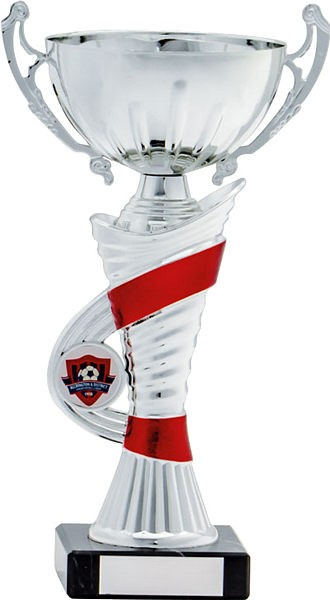 Silver Cup with Red Stripe Trophy