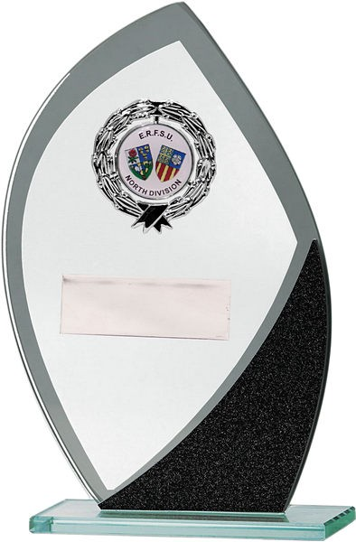 Glass Award with Black Detail