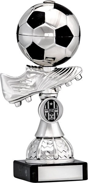 Silver Football Boot and Ball Trophy