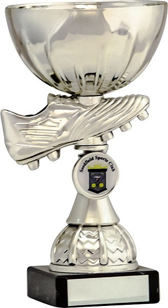 Silver Football Boot and Bowl Trophy
