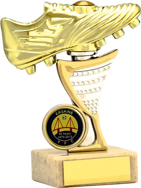 Gold Football Boot Trophy