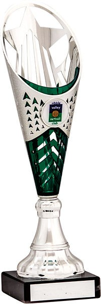 Silver and Green Flute Trophy