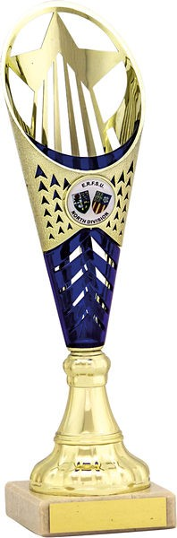 Gold and Blue Flute Trophy