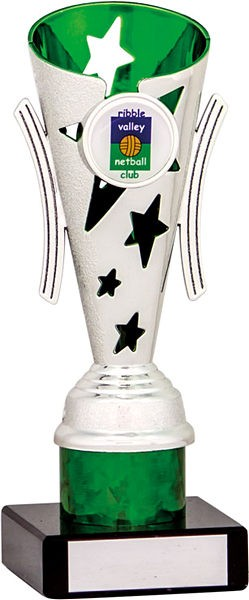 Silver and Green Star Flute Trophy