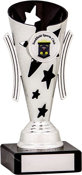 Silver and Black Star Flute Trophy