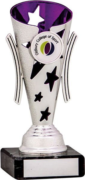 Silver and Purple Star Flute Trophy