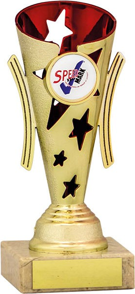 Gold and Red Star Flute Trophy