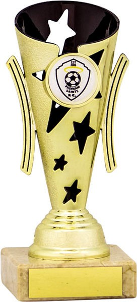 Gold and Black Star Flute Trophy