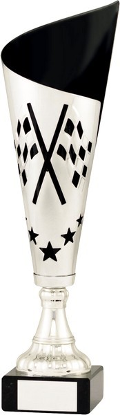 Silver / Black Fluted Motorsport Cup