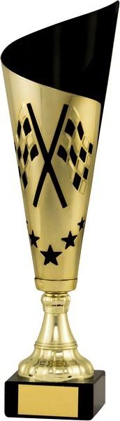 Gold / Black Fluted Motorsport Cup