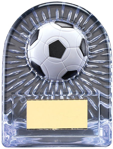 Silver Acrylic Football Trophy