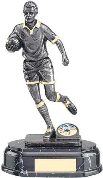 Silver Rugby Figure Trophy