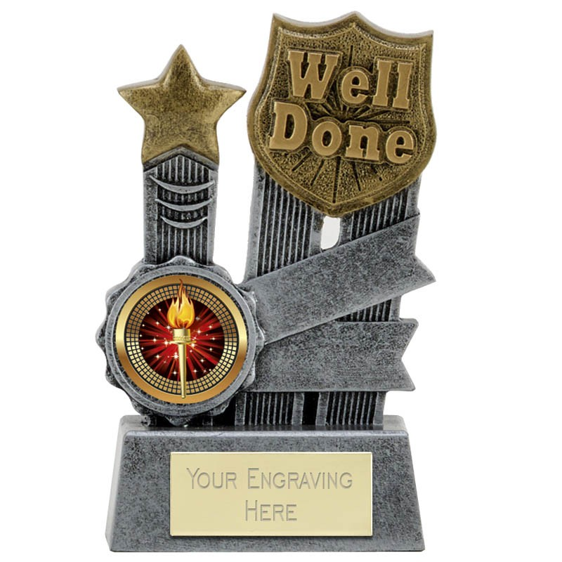 Well Done Ribbon Trophy