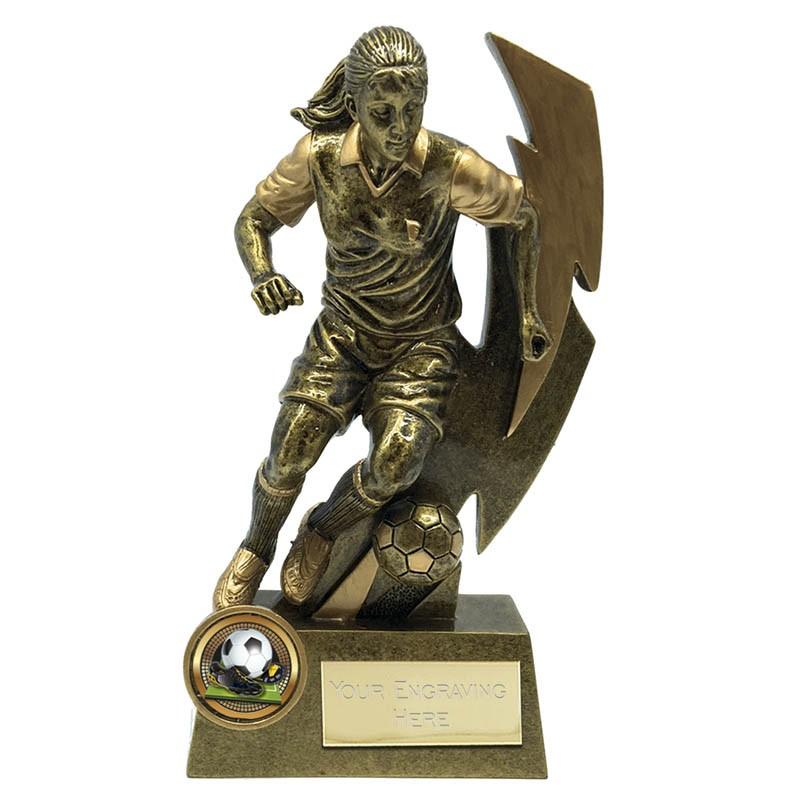 Gold Flash Female Footballer