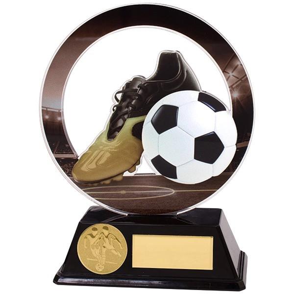 Dominion Football Boot & Ball Acrylic Plaque