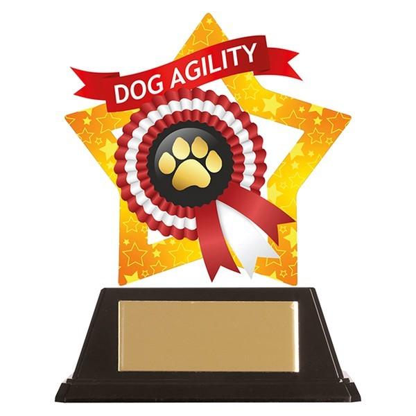 Mini-Star Dog Paw Acrylic Plaque