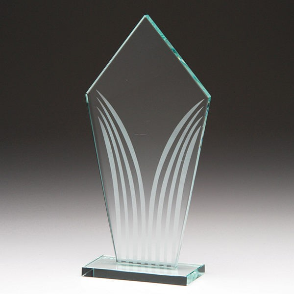 Emperor Pointed Glass Trophy Plaque