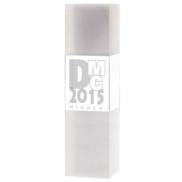 Frosted Crystal Column with free laser engraving!
