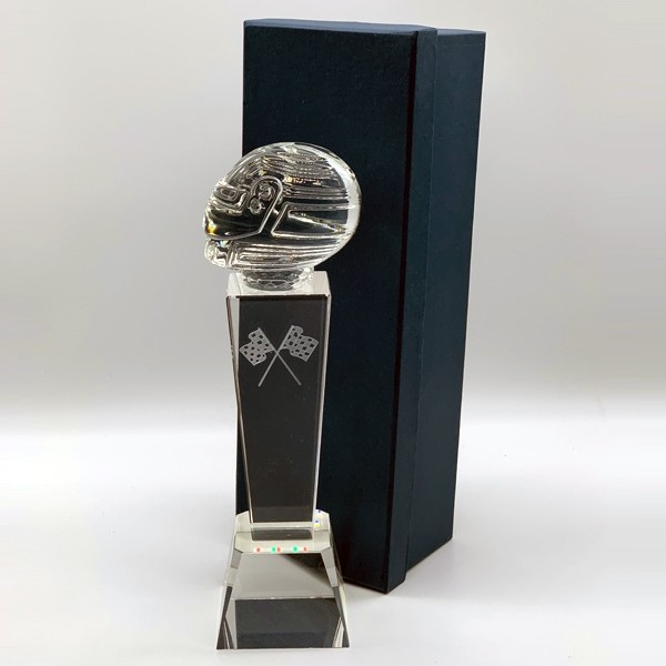 Crystal Tower Racing Helmet Award