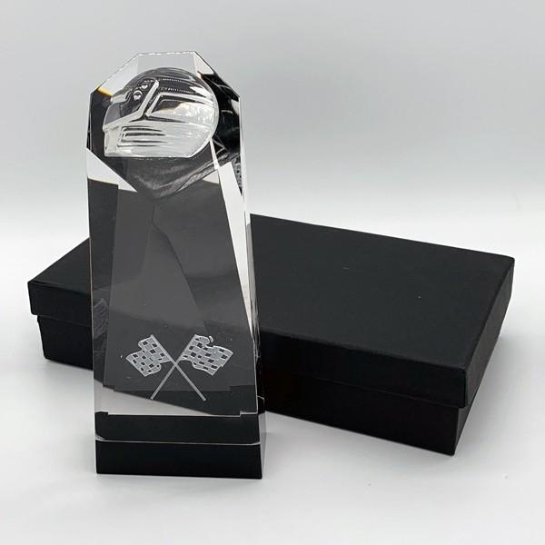 Glass Block Motorsport Helmet Award