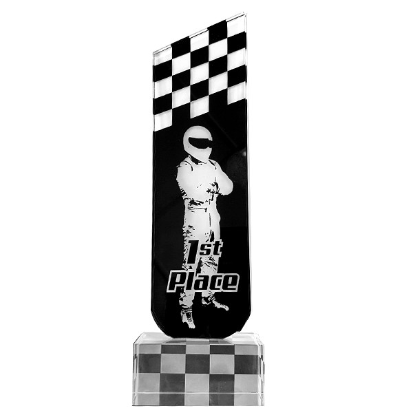 Black Glass Racing Driver Trophy