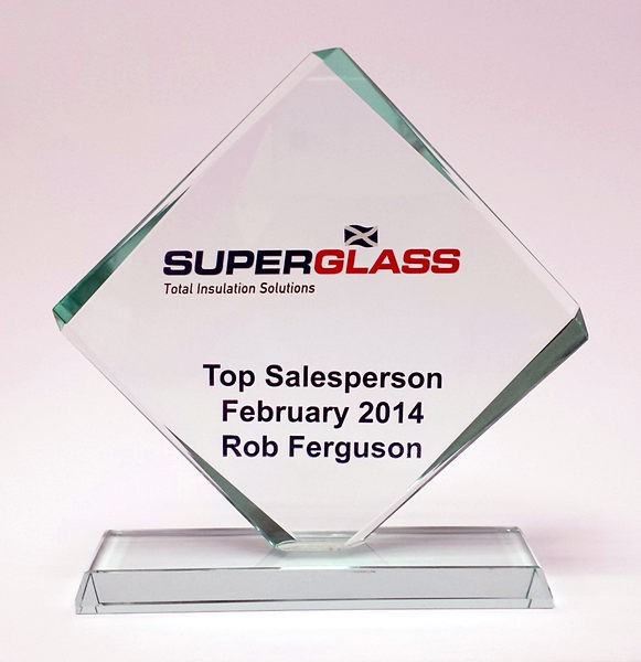 Diamond Glass Award with free Colour Engraving!