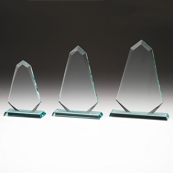 Triangular Glass Trophy with Presentation Box