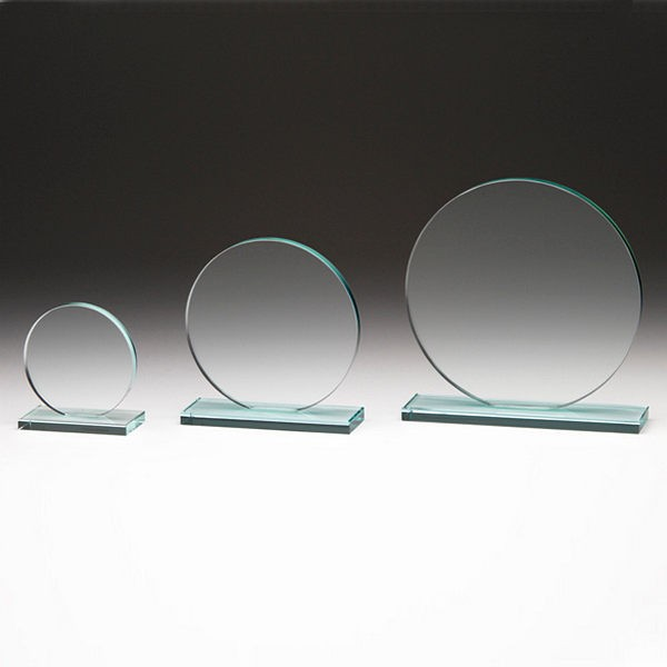 Circular Glass Plaque Trophy