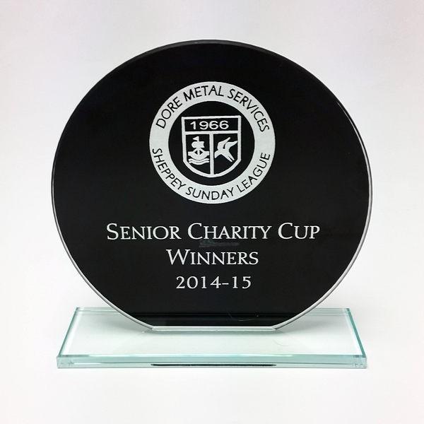 Jade Black Glass Trophy