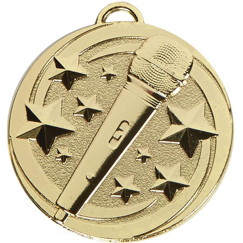 Target Microphone Medal