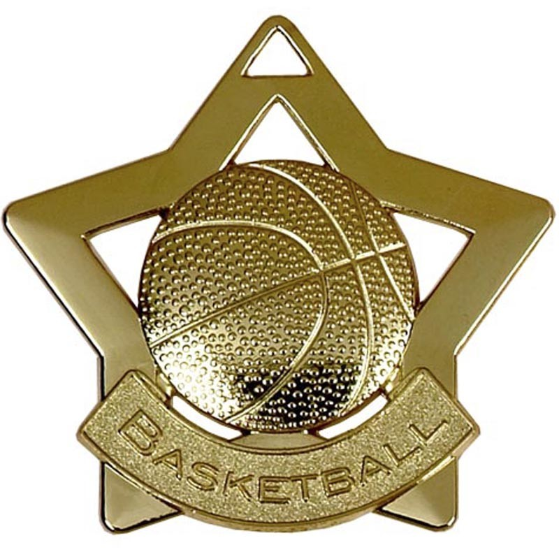 Mini Star Basketball Medal