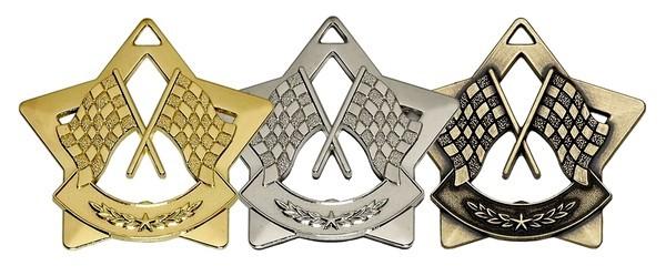 Mini Star Crossed Flags Medal