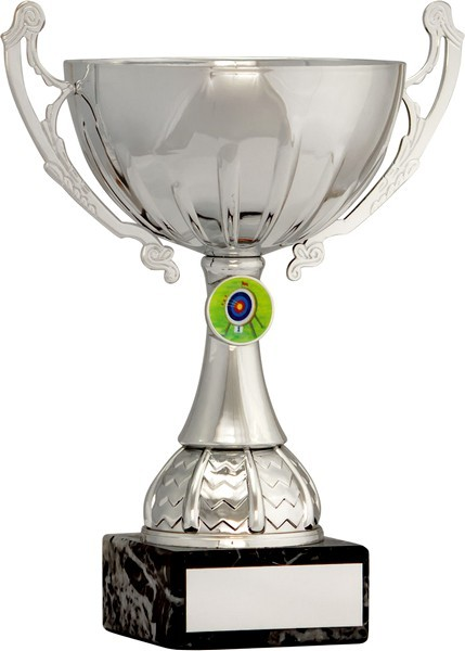 Silver Cup Trophy with Archery Insert