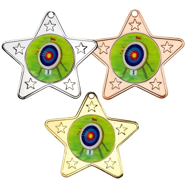 Archery Star Shaped Medals