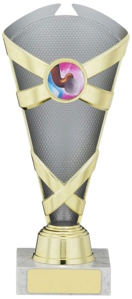 Silver/Gold Criss Cross Trophy