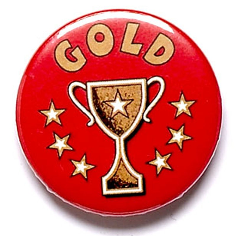 Gold Cup Button Badge