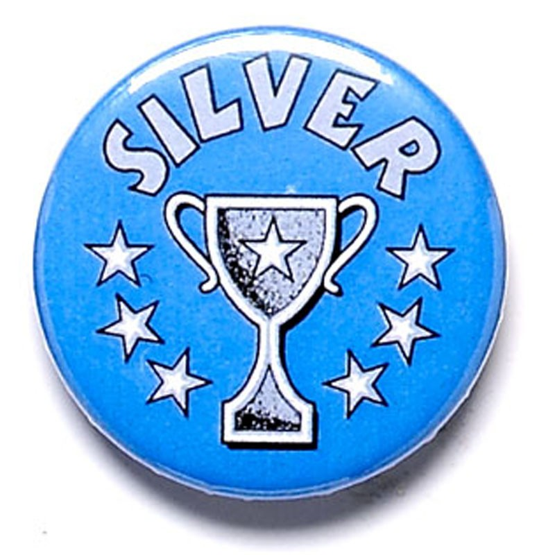 Silver Cup Button Badge