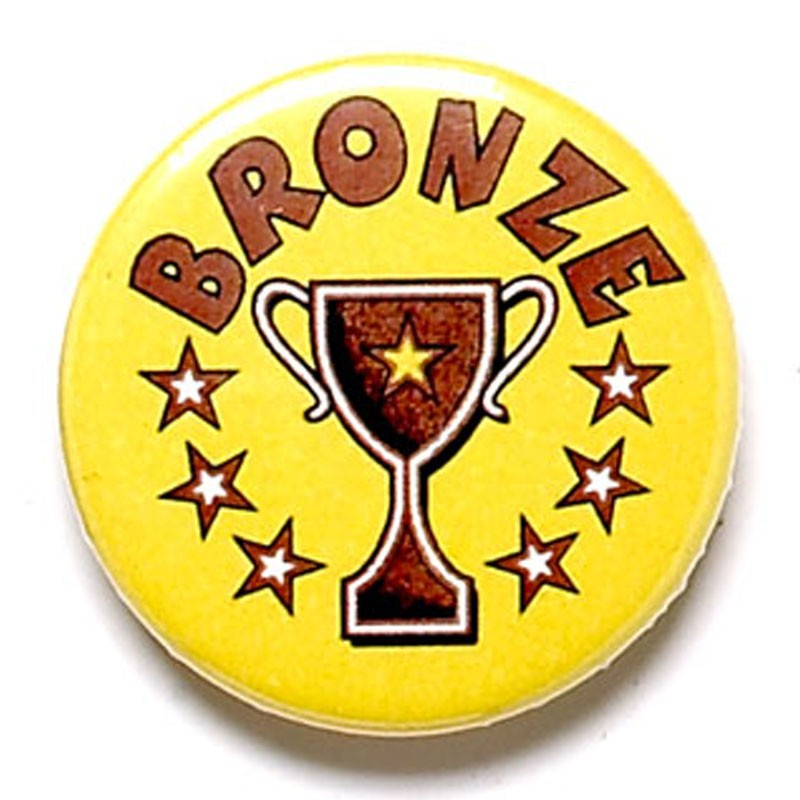 Bronze Cup Button Badge