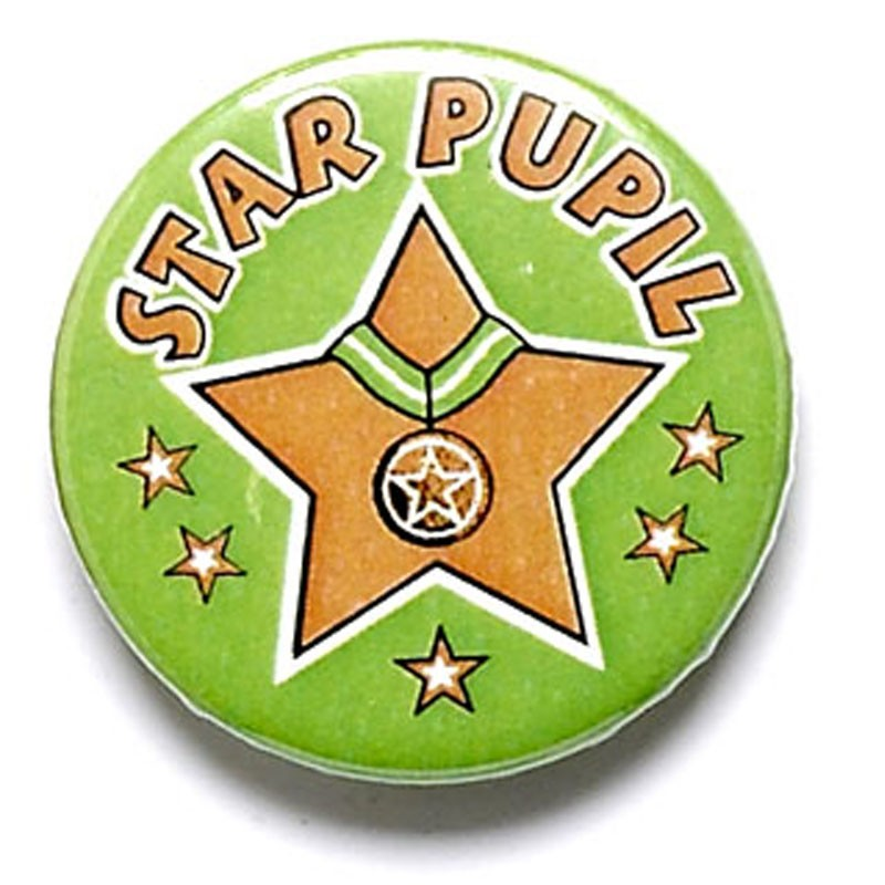Star Pupil Button Badge