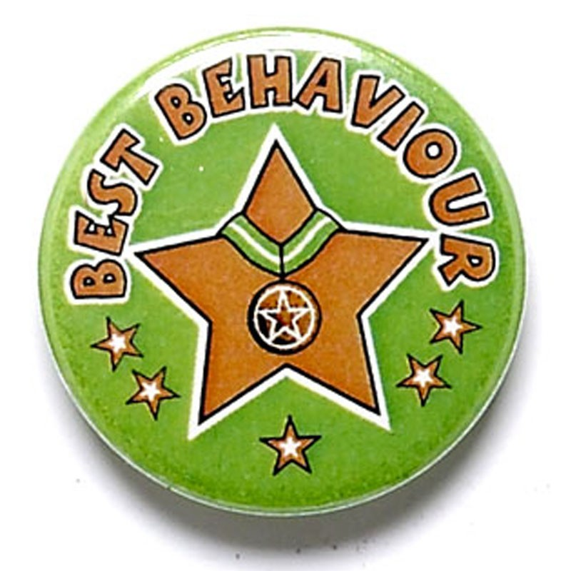 Best Behaviour Button Badge