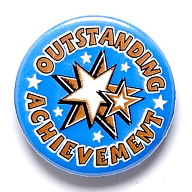 Outstanding Achievement Button Badg