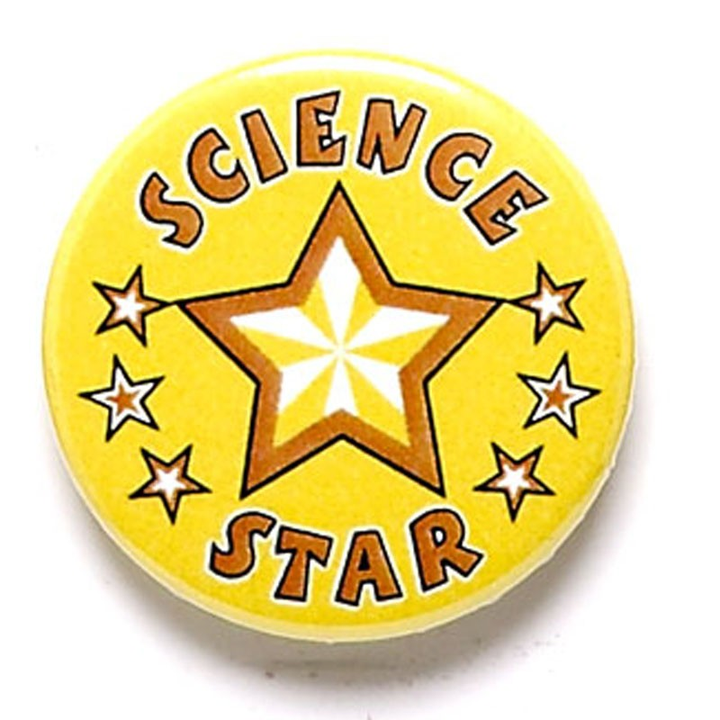 Science Star Button Badge