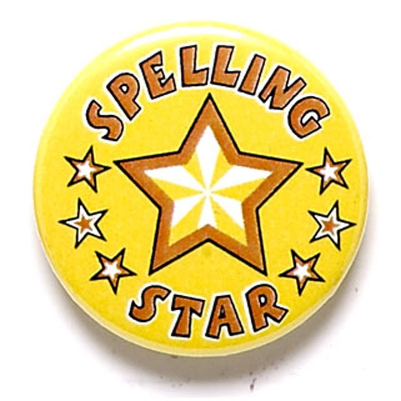 Spelling Star Button Badge